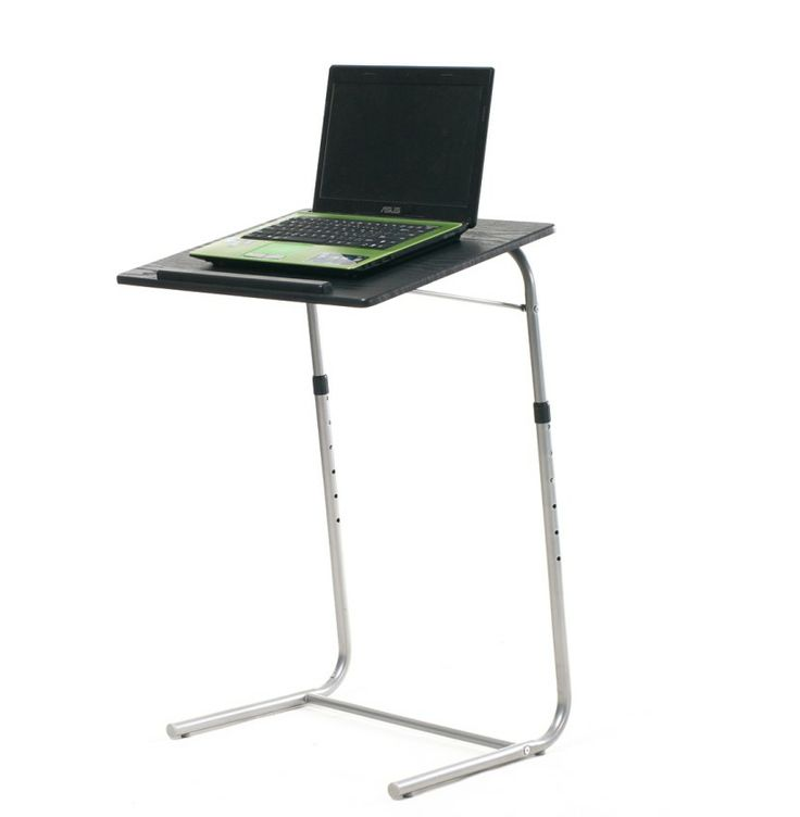Buy this simple cheap table Adjusts to 6 Heights from 65cm-85cm - Adjustable Table is ideal for viewing laptops, eating dinners, reading and writing for adults or children