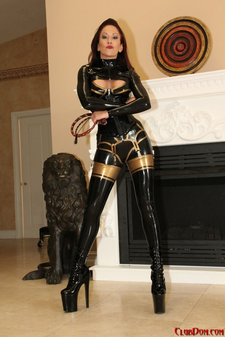 Rubber dom whips a maid 3