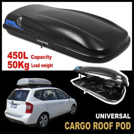 Car Roof Box Rack Luggage Cargo Pod 450L 50KG Universal fit  - Wholesales Direct