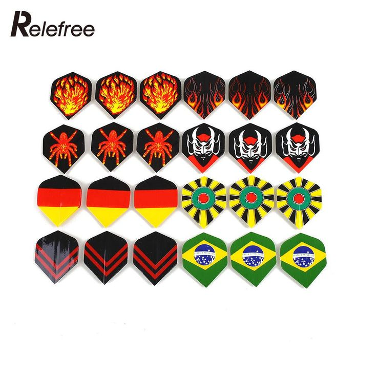 60Pcs Popular Pattern Nice Darts Tail Flights Wing Mixed Style for Professional Darts Wing Tail Cool Outdoor Sports 4.3*3.5cm
