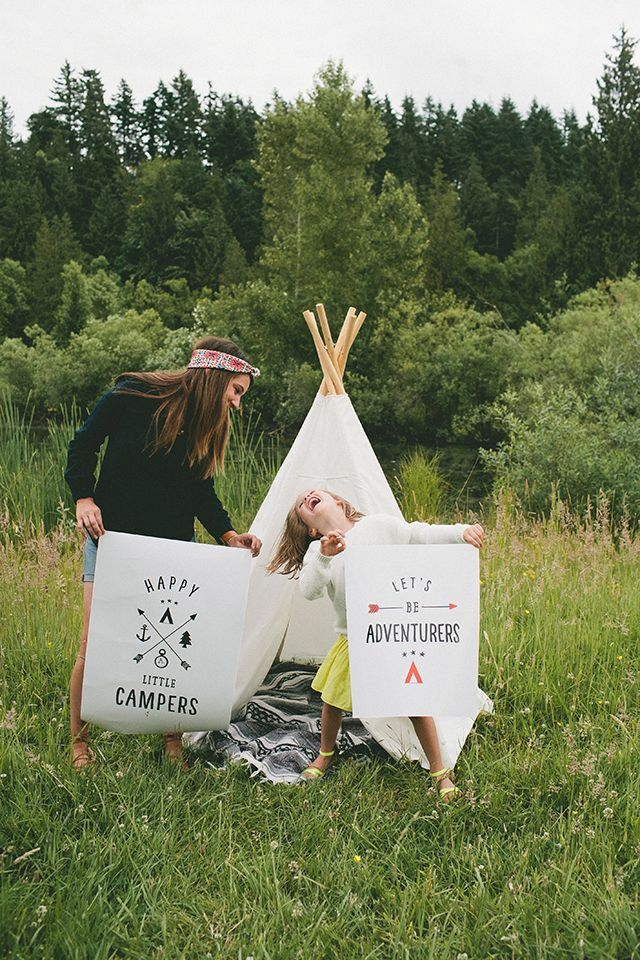 a teepee GIVEAWAY and little camper FREEBIES  #raeannkellypins #rakpinparty