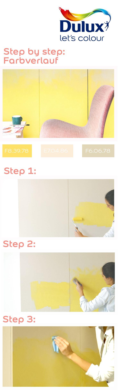 Wand Streichen Farbverlauf. Wand Streichen Farbverlauf. Streifen ...