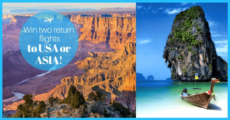Win 2 Return Tickets to the US or Southeast Asia! (up to £1,200)