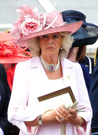 The Duchess of Cornwall, Camilla, sports this whimsical number during a royal event in August 2010