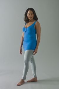 The Kali legging bottoms are the leggings that accompany the collection of tops.  Mirroring the rest of the collection they are not just conventional leggings but intelligently cut and forgiving where needed, with the addition of doubled fabric and panels at front and back to give beautiful shape which offers supreme support and comfort whilst figure enhancing.