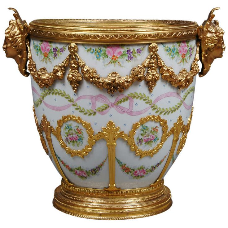 Sevres Gilt Bronze Mounted Cache Pot | From a unique collection of antique and modern porcelain at http://www.1stdibs.com/furniture/dining-entertaining/porcelain/