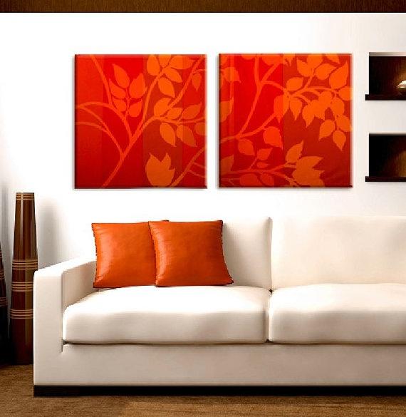 Fabric Stretched Canvas (Etsy - Marimekko)
