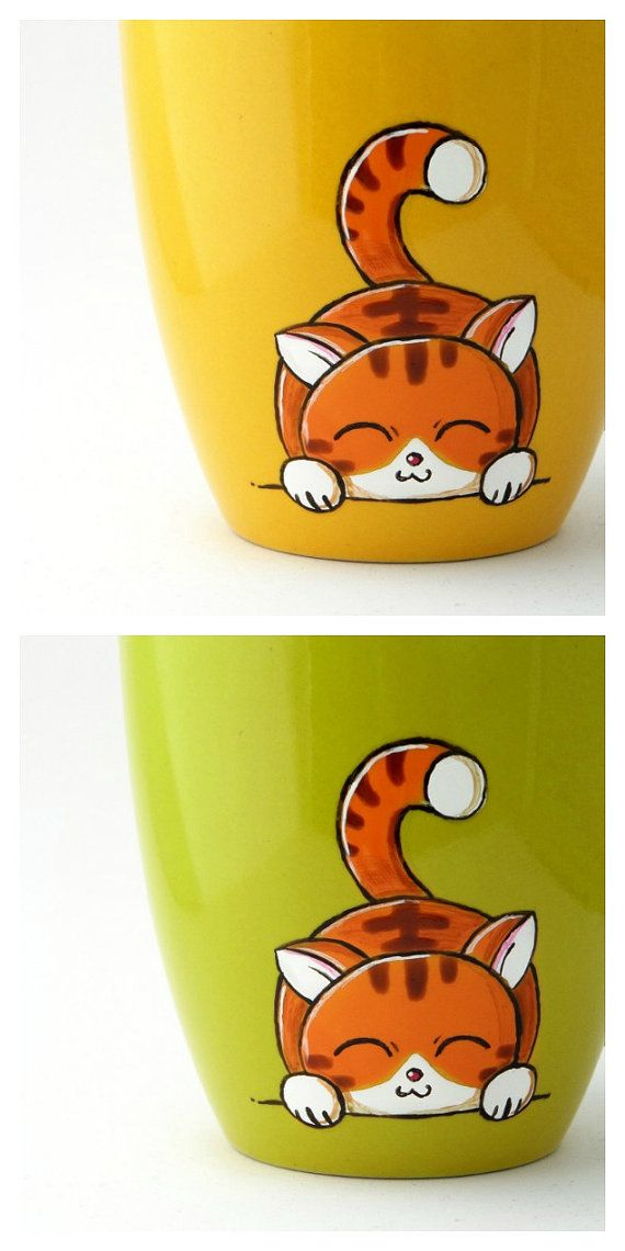 Cat mug by vitaminaeu on Etsy
