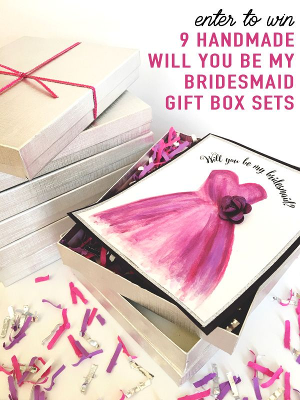 Enter to Win 9 Handmade Will You Be My Bridesmaid Gift Card Sets with Confetti / as seen on Brenda's Wedding Blog www.brendasweddingblog.com #willyoubemybridesmaid #bridesmaid #weddingideas #weddinginspiration