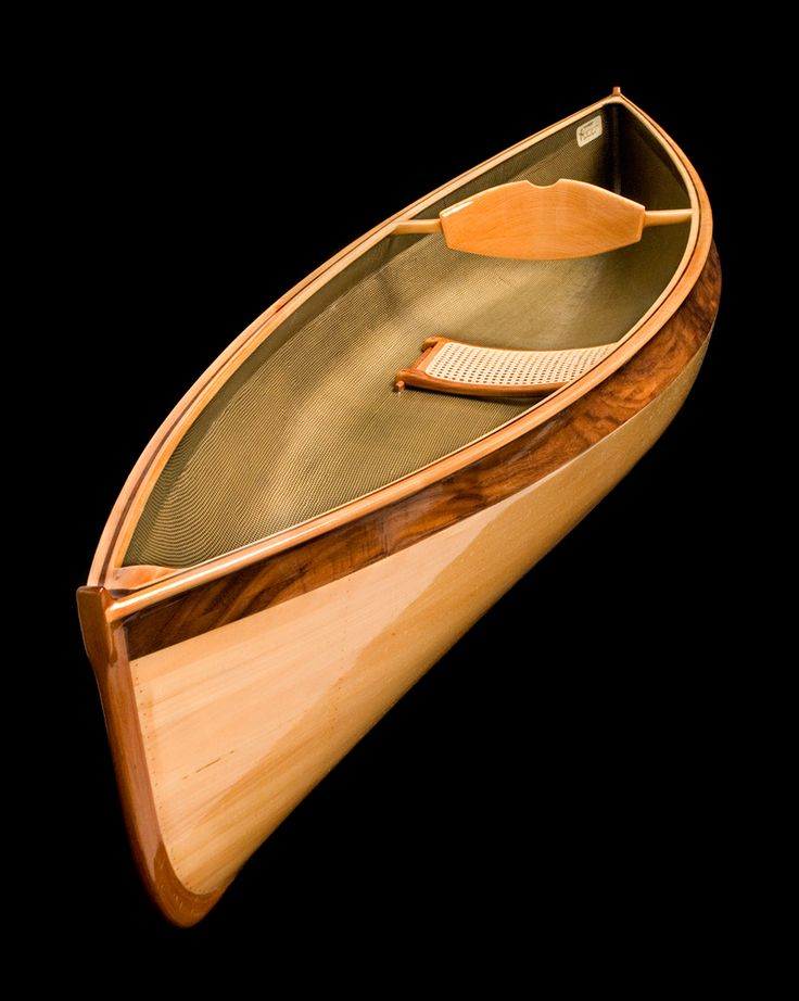 how to make a small wooden canoe