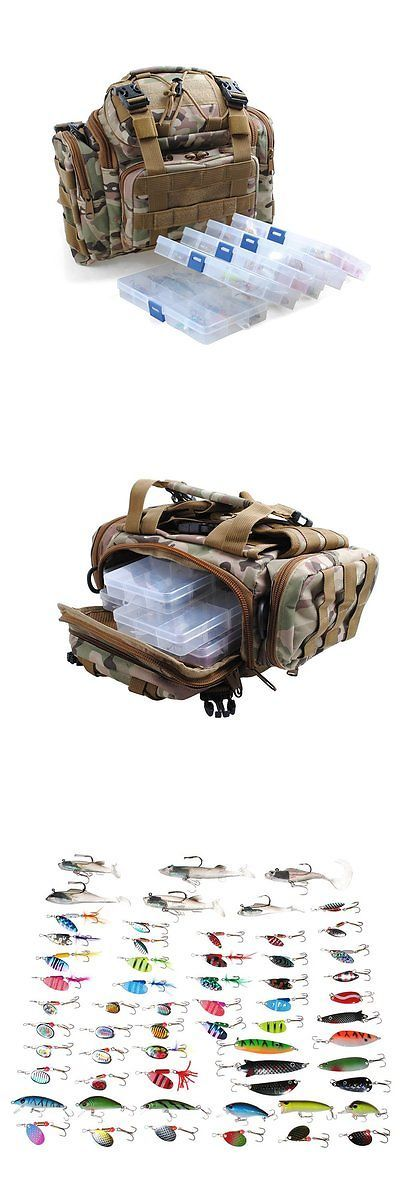 Tackle Boxes and Bags 22696: Big Sale! Fishing Tackle Bag With 5 Boxes Loaded 60 Fishing Lures Crankbaits... -> BUY IT NOW ONLY: $87.69 on eBay!
