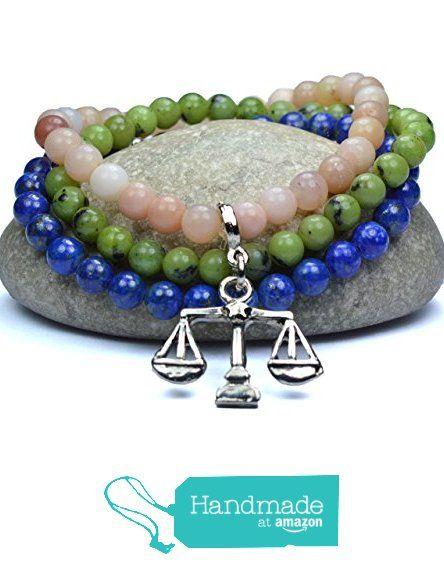 Libra Zodiac Sign September October Birthstone Bracelet Astrology Healing Crystals Lapis Lazuli Pink Opal Jade Natural Gemstones Scales Symbol Charm 12 Constellations from Mirilya https://www.amazon.com/dp/B01CBXYK36/ref=hnd_sw_r_pi_dp_Dz5lyb6KG1Z4M #handmadeatamazon #libra #birthstone #zodiac #mirilya #gift #jewelry