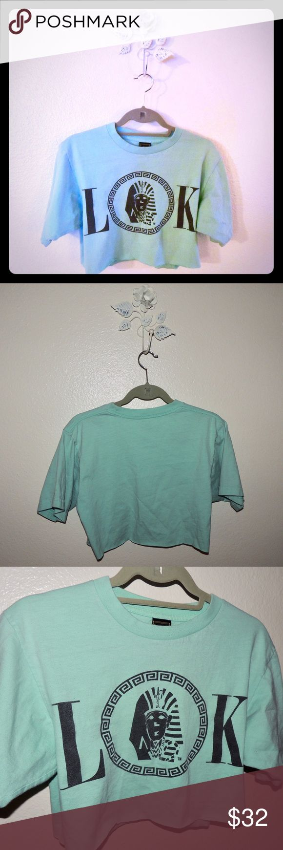 Last Kings mint green crop top by TYGA Size medium last kings mint green crop top with black logo. Great color! Perfect for a casual day or dress up for a concert. Nike used for search purposes only thanks 🤗 Nike Tops
