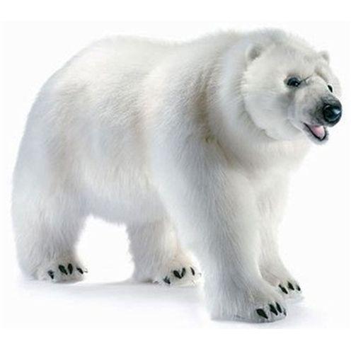 Hansa Polar Bear Life Size Walking 53 L Plush Walking