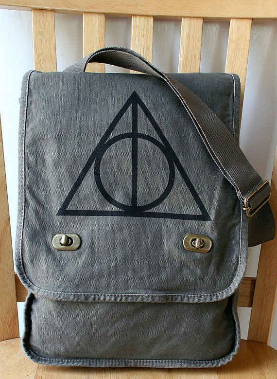 Deathly Hallows Canvas Field Bag, $25 | 56 Totally Wearable Harry Potter-Themed Accessories