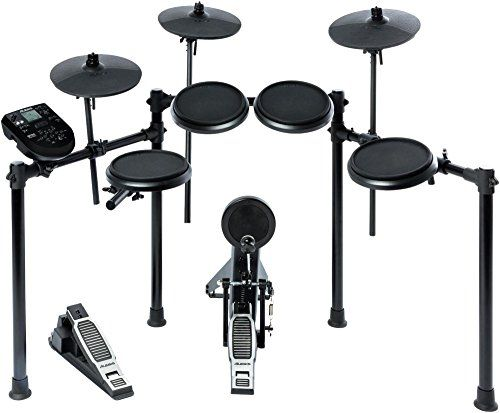 "Dynamic, comfortable pads for great feel and natural response8"" high quality rubber drum pads (dual-zone snare, three single-zone toms)Kick pad tower with bass drum pedal included10"" cymbals:   #Alesis #Cymbals #Drum #Electronic #Nitro #Snare #Toms"