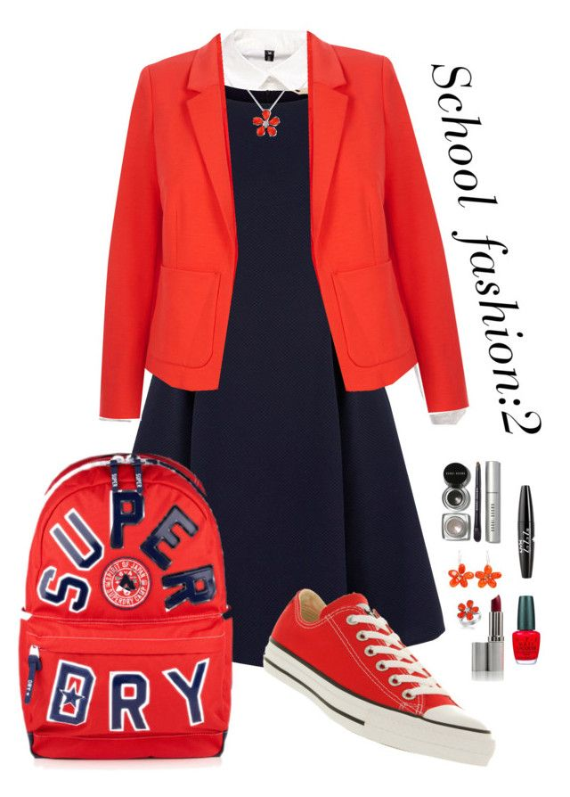 """School fashion:2"" by nady-beren on Polyvore featuring Yumi, Oasis, Converse, Del Gatto, NOVICA, Bobbi Brown Cosmetics, NYX, OPI and Superdry"
