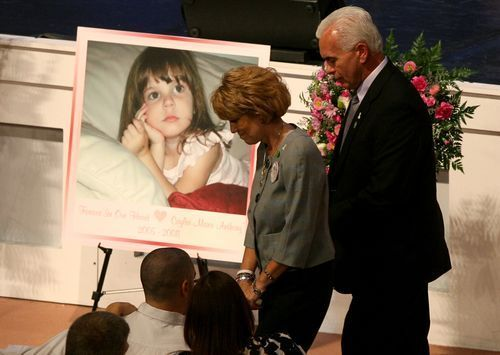 Cindy, left, and George Anthony at the memorial for their granddaughter Caylee Anthony at First Baptist Orlando in Orlando, Fla. on Feb. 10, 2009.(Photo: Red Huber, AP)          CLOSE           Investigation Discovery's three-part series 'Casey Anthony: An American Murder... http://usa.swengen.com/an-american-murder-mystery-george-anthony-says-drowning-story-is-bull/