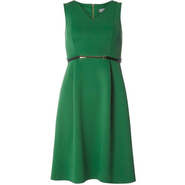 Dorothy Perkins Petite Green Belted Scuba Prom Dress (310 RON) ❤ liked on Polyvore featuring dresses, green, petite, green prom dresses, cocktail prom dress, green cocktail dress, petite prom dresses and green dress