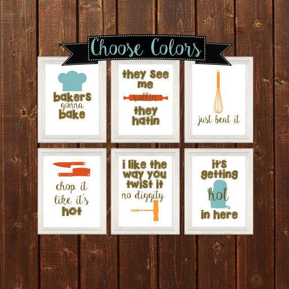 Funny rap lyric spin off quotes for the kitchen. Printable Wall art 8.5x11…