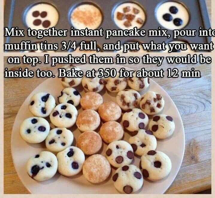 Mini Pancakes using Muffin Tins