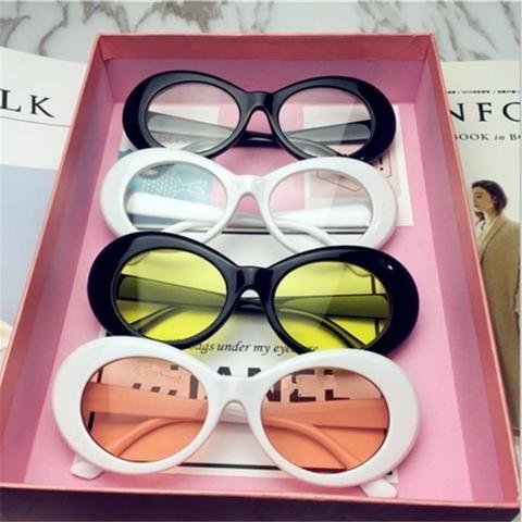 4e75cfae366 UVLAIK NIRVANA Kurt Cobain Sunglasses Men Women Clout Goggles Sunglasses  Retro Oval Sun Glasses UV400 Design Women s Glasses