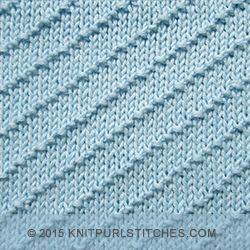 [Knitting in the round] Diagonal Seed Stitch - Knit and purl combinations K...
