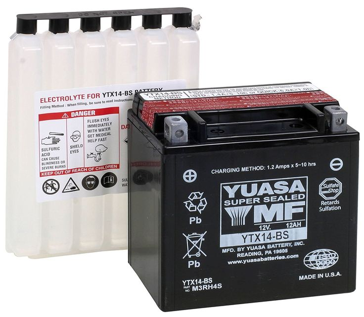 Yuasa YTX14-BS Battery. *Maintenance Free*