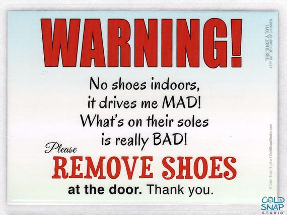 """REMOVE YOUR SHOES 5"""" x 7"""" Door Sign, Germs Drive Me Mad - Funny Take Off Your Shoes Sign #etsy #home #shopping"""
