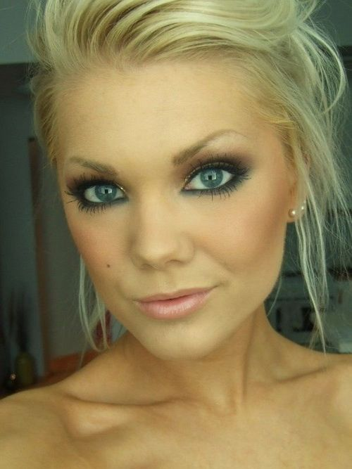 pretty makeup for blue eyes and brown hair makeup vidalondon
