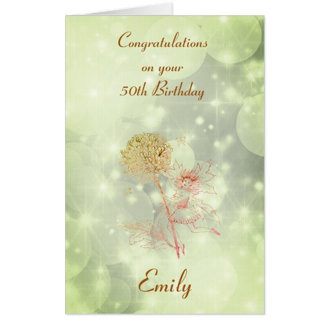 Giant Personalised 50th Birthday Greeting Card Zazzle Com 50th Birthday Greetings Birthday Greetings Birthday Greeting Cards