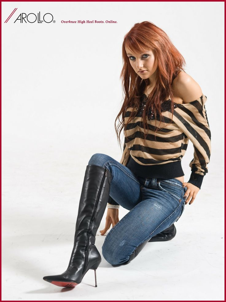 AROLLO Knee High Boots Stiletto Roma