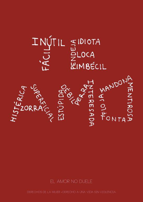 TE AMO · Poster (Escucha mi Voz) on Behance -Contra la violencia a la mujer-