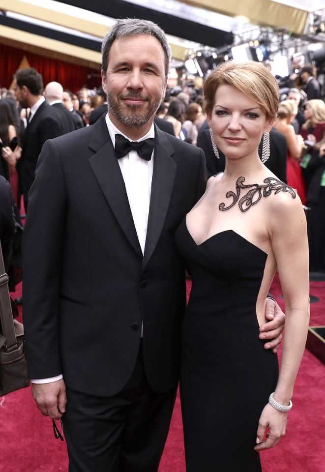 #oscarfashion Denis Villeneuve and Tanya Lapointe arrive at the Oscars on Sunday, Feb. 26, 2017, at the Dolby ashTheatre in Los Angeles. (Photo by Matt Sayles/Invision/AP) </p>
