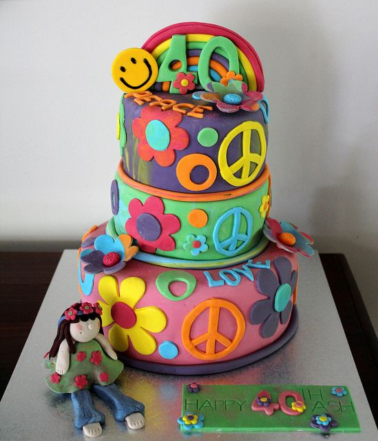 hippie cakes pictures | 40th Birthday 'Hippy' Cake | Flickr - Photo Sharing!