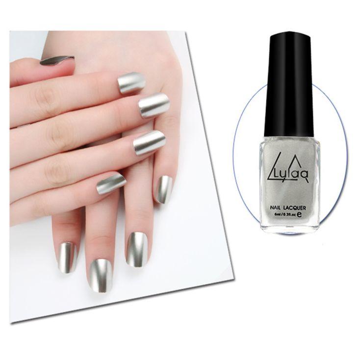Colorful Mirror 6ml Nail Polish Plating Paste Metal Color Stainless Steel Nail Polish For Nail Art. Click visit to buy #Nail #Polish #NailPolish