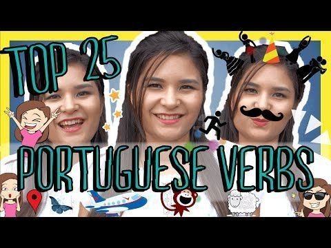Learn the Top 25 Must-Know Brazilian Portuguese Verbs - YouTube #learnbrazilianportuguese #learnportuguese