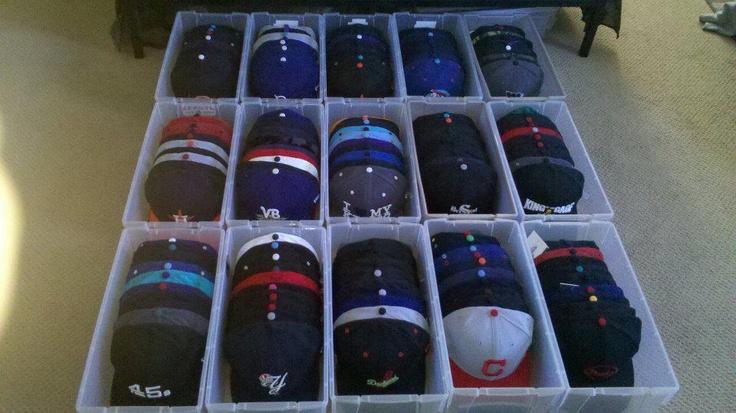 A cap storage idea from New Era fan Chris K.