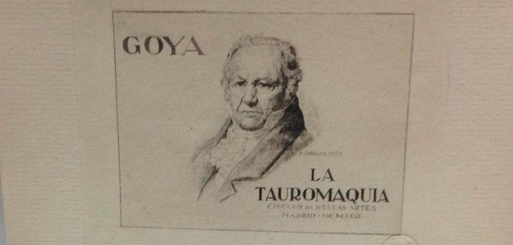La Tauromaquia de Goya está en Primera Plana!