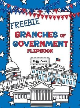 """Branches of Government Freebie..... Follow for Free """"too-neat-not-to-keep"""" teaching tools & other fun stuff :)"""