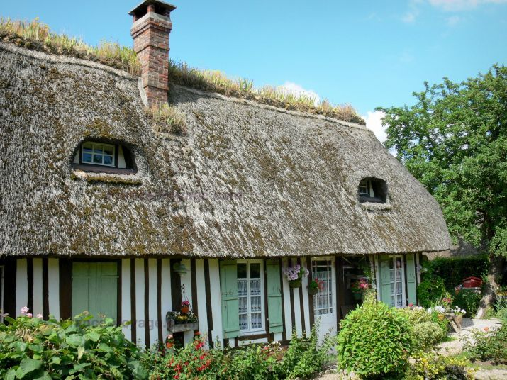 73 best toits de chaume images on pinterest dreams thatched roof and cottages - Maison en toit de chaume ...
