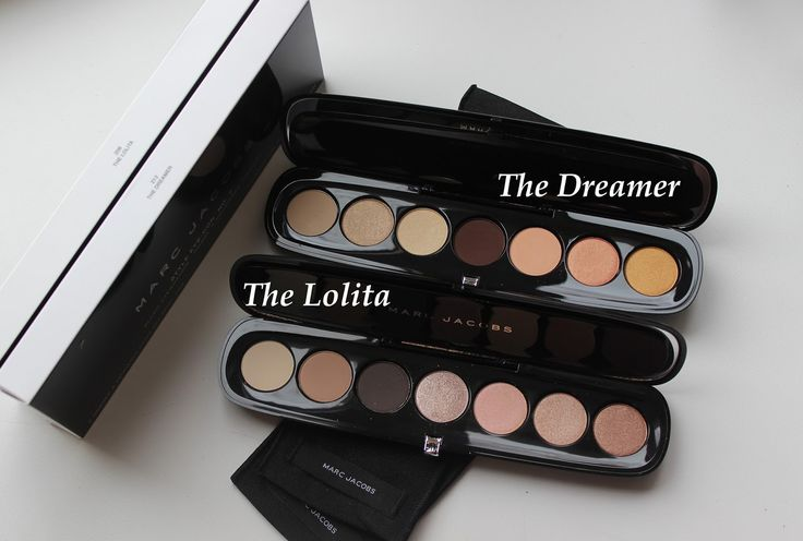 Marc Jacobs Beauty Style Eye-Con No.7 The Lolita, The Dreamer Plush Shadow vs. Sleek MakeUp I Divine AU Naturel / swatches / review / compare