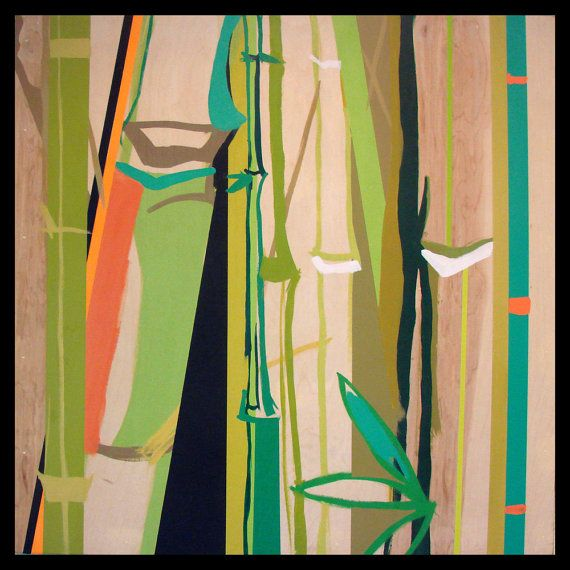 "Abstract Bamboo Pop Art Zen 12.5""x12.5"" Color Print   My ..."