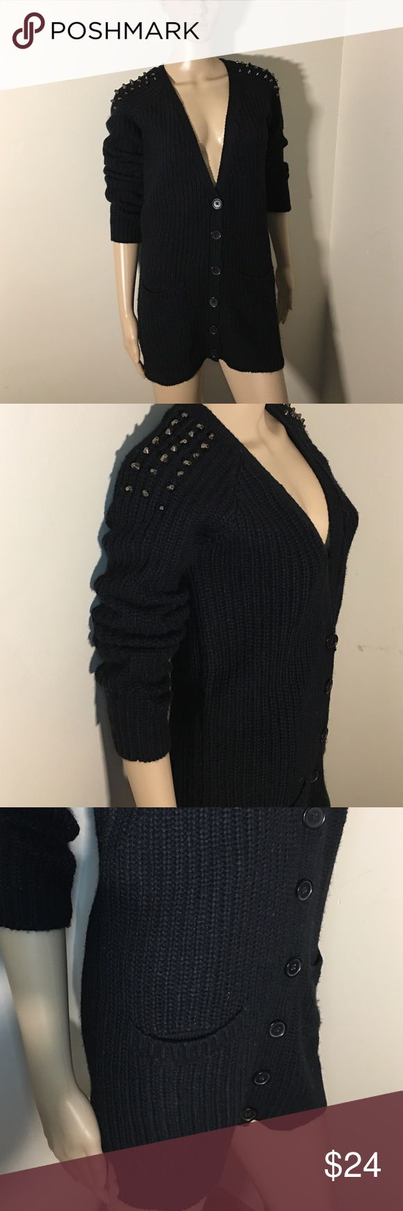 LUXE  Black Knit Cardigan Size S NWT Acrylic,machine washable . Luxe Jackets & Coats