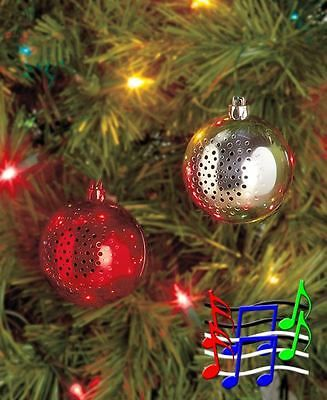 Holiday Tunes Wireless Speakers Speaker Ornament Silver Ball Christmas Winter Stocking Stuffers Christmasdecor Ornaments