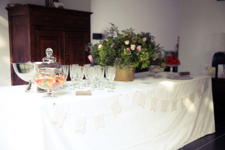 Huwelijk bruiloft receptie decoratie