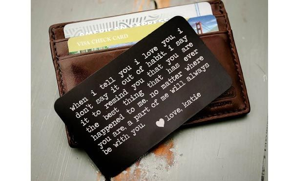 20 Romantic Birthday Gifts For Husband That Will Melt His Heart - Personalized Wallet Insert - Click to read more