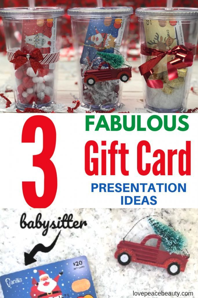 Christmas Gift Card Presentation Ideas With Images Christmas