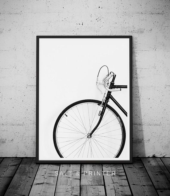 Printable bicycle wall art  by SaltAndPrinter at SaltAndPrinter.etsy.com