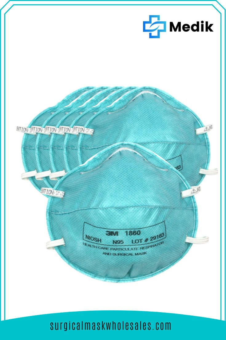 3m 1860 n95 medical disposable mask 10 count surgical